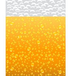 background with beer and foam vector image