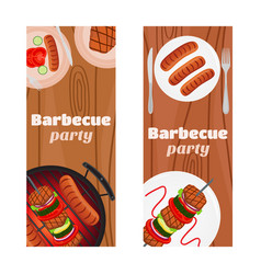 barbecue party flyers invitation banner vector image