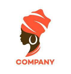 Beautiful african woman logo vector