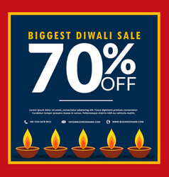 Biggest diwali sale of discount and offers with vector