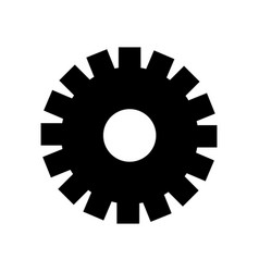 Black contour gear symbol process industry vector