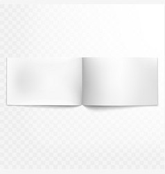 blank open magazine isolated eps 10 vector image
