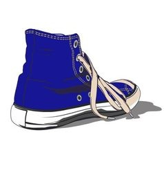 BLUE SHOE vector