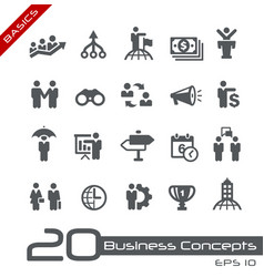 Business concepts icon set - basics vector