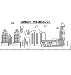 canada mississauga architecture line skyline vector image