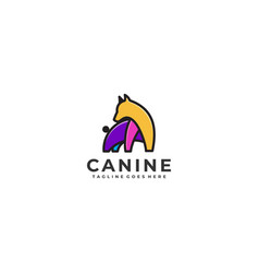 Canine design concept template vector