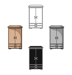 Closet icon in cartoonblack style isolated on vector