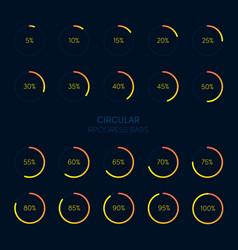 collection modern futuristic circular progress vector image