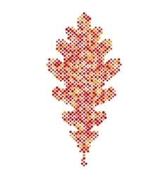 Colorful Oak leaf isolated Autumn leaf icon vector