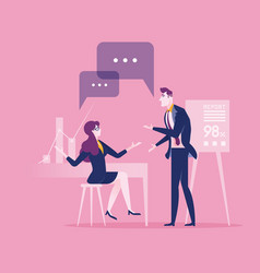 Communication business concept vector