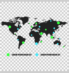 communications network world map on isolated vector image