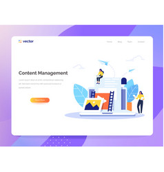 Content management concept in flat design vector