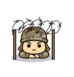 cute soldier army vector image