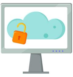data protection cloud storage design flat concept vector image