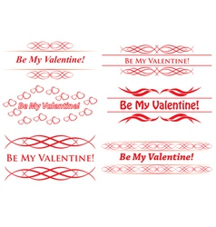 elements for design - be my valentine vector image