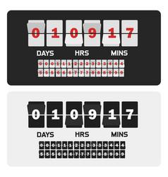 event presentation sale timer number counter vector image