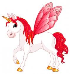 Fairy tail horse vector