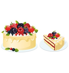 fruit cake vector image