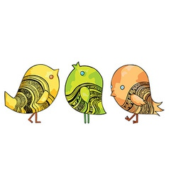 Funny Chirping Birds vector image