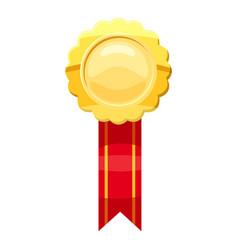 Gold award icon cartoon style vector