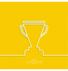 Gold cup of the winner on a pedestal vector image