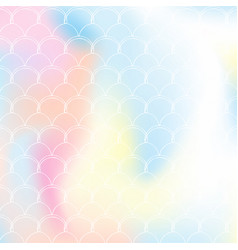 gradient mermaid background with holographic vector image