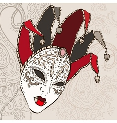 Hand Drawn Venetian carnival mask vector