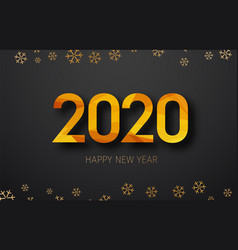 happy new year 2020 banner design with golden vector image