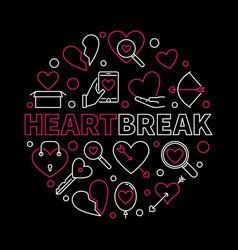 heartbreak round creative in vector image