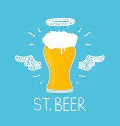 heaven beer concept st beer with angel vector image