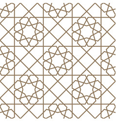Islamic geometric seamless pattern vector