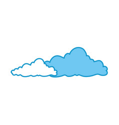 isolated cute clouds vector image