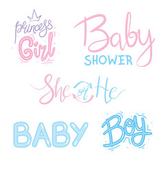 Lettering for baby shower card vector
