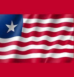 Liberia realistic flag vector