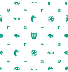 Logo icons pattern seamless white background vector