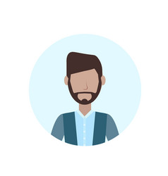 man beard mustache avatar isolated faceless male vector image