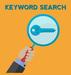 Man keyword searching concept vector