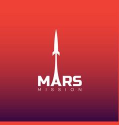 mars mission logo vector image