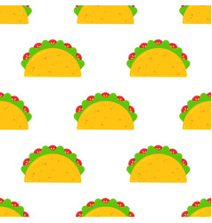 mexican festival taco fastfood seamless pattern vector image