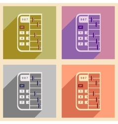 Modern collection flat icons with shadow abacus vector