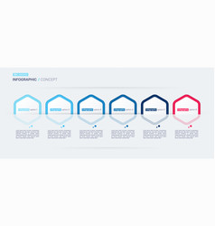 modern infographic concept template six vector image