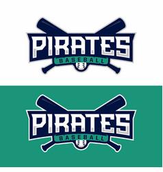 modern professional emblem pirates vector image