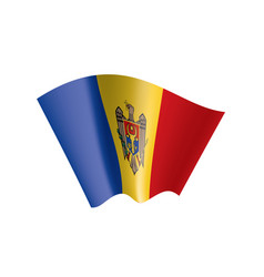 moldova flag on a white vector image