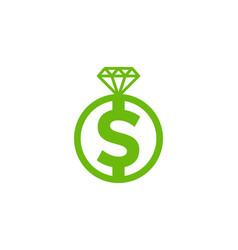 money diamond logo icon design vector image