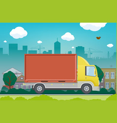 moving service cargo delivery vector image
