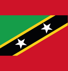 National flag st kitts and nevis vector