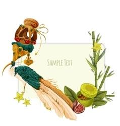 oriental sweets set vector image