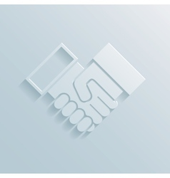 Paper handshake icon vector