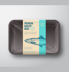 Premium quality anchovy abstract fish vector