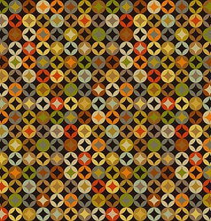 Retro abstract colorful seamless pattern vector image